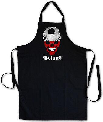 BLACK FOOTBALL SOCCER POLAND SKULL GRILLSCHÜRZE KOCHSCHÜRZE Hooligan Fußball Fan