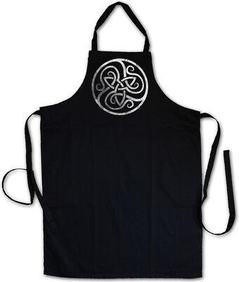 CELTIC CIRCLE BBQ COOKING APRON Celts Cross Religion Culture Sign Symbol