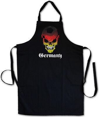 GERMANY GERMAN FOOTBALL SOCCER SKULL GRILLSCHÜRZE KOCHSCHÜRZE - Deutschland Fan