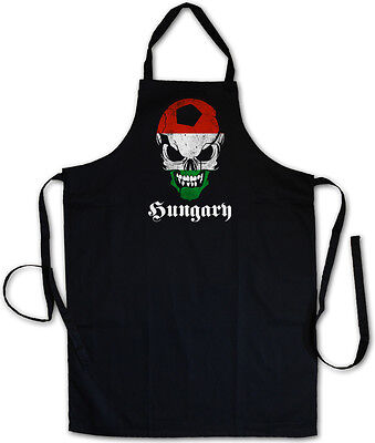 HUNGARY FOOTBALL SKULL FLAG GRILLSCHÜRZE KOCHSCHÜRZE – Fußball Fan Ungarn Fahne