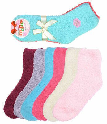 6 Pair of Women Plush Fuzzy Soft Slipper Socks Solid Plain Colors Warm and Cozy Clothing, Shoes & Accessories