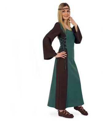 Mittelalter Maid Damen-Kostüm Mittelalter-Kleid Damen-Outfit grün lang 12173313F