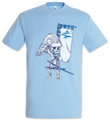 Sugar Skull Samurai T-Shirt Ninja Japan Tattoo Skelett Tätowierer Totenkopf