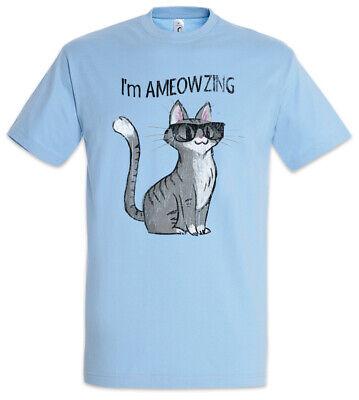 Ameowzing Cat T-Shirt Fun Cats Geek Nerd Katze Katzen mit Sonnenbrille Liebe