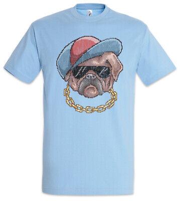 Pixel Pug Life T-Shirt Pixel Retro Fun Dog Dogs Love OG Gangster Gamer Mops Hund
