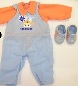 Away til 29/10/16baby dolls clothes dungarees & shoes BNIB cicciobello Annabelle