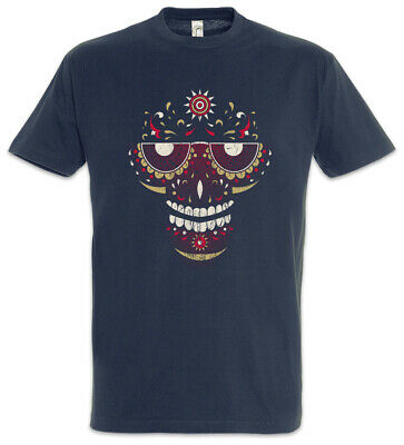 Sugar Skull Face T-Shirt Tattoo Tätowierer Mexiko Latin Latino Totenkopf Schädel