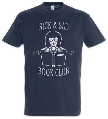 Sick & Sad Book Club T-Shirt Daria Sitcom Series Fun Morgendorffer Lanes Club