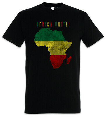 Africa Unite T-Shirt Rasta Rastafari Babylon Irie Reggae Jamaica Jah Ethiopia