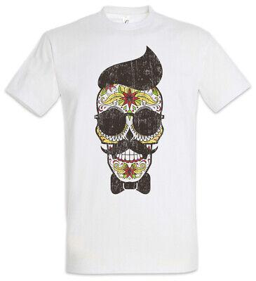Sugar Skull Hipster T-Shirt Holi Tattoo Tätowierer Mexiko Totenkopf Schädel