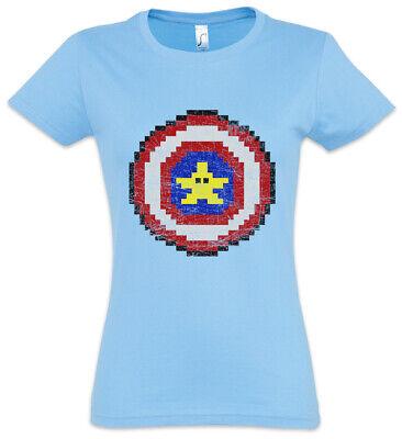 Captain Pixel Damen T-Shirt Banana Geek Nerd Gamer Games Gaming America Fun