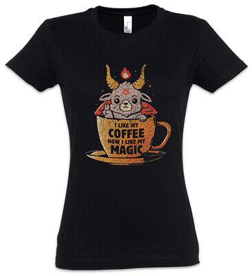 Magic Coffee Damen T-Shirt Koffein Fun Geek Nerd Chemie Witch Informatiker