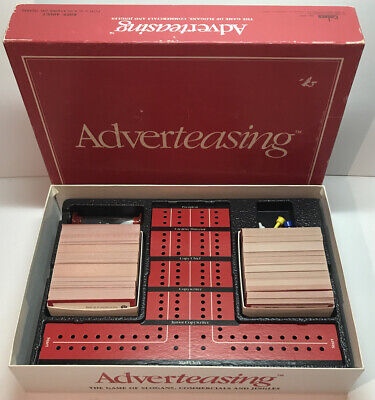 Vntg 1988 Adverteasing Board Game~The Game Of Slogans, Commercials & Jingles New