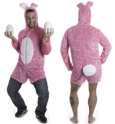 Hasenkostüm Pink Hasen Kostüm Herren Erwachsene Gr. L - Herren Junggesellenabschied Kostüm