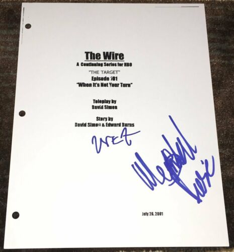 DOMINIC WEST & WENDELL PIERCE SIGNED AUTOGRAPH THE WIRE FULL 64 PG PILOT SCRIPT
