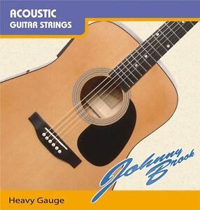 set of six acoustic guitar strings heavy gauge ebay