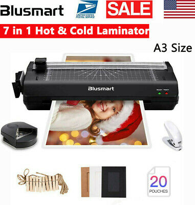 A3a4 Laminator Multi-function W Paper Trimmer Corner Rounder 30 Pouches Hot