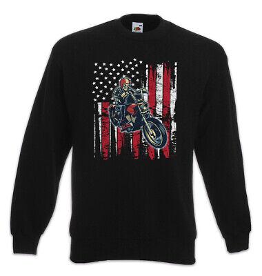 shirt Pullover MC Rocker Gangster Skelett Motorradfahrer (Skelett Pullover)