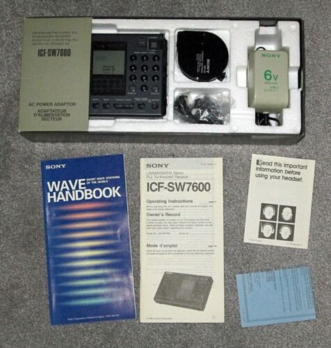 SONY ICF-SW7600 World-Band Receiver in Original Box & with Accessories