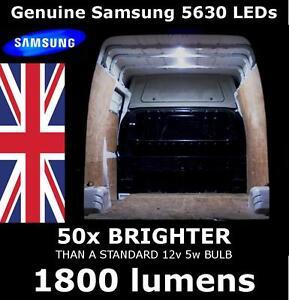 12v led interior van loading light set eg vauxhall movano vivaro 1800 lumens ebay. Black Bedroom Furniture Sets. Home Design Ideas