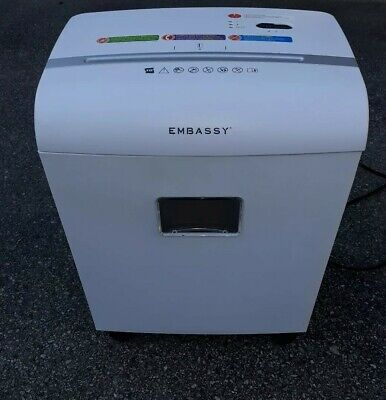 Euc Embassy Sheet Microcut Paper Shredder With Auto Feed - White Model Lm101pi