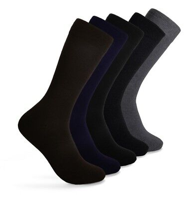 Men's Crew Cotton Socks for Every Occasion Work | Size 10-13 | Lot 5 Pairs | - Cotton Crew Crew Socks
