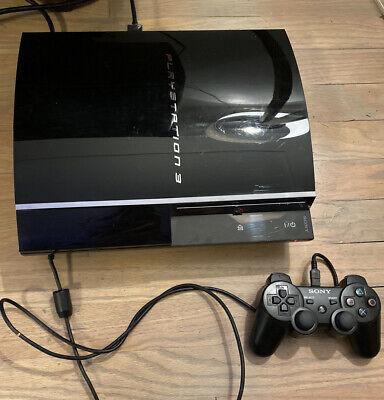 Sony PlayStation PS3 Fat 60GB Backwards PS2 Compatible CECHA01 Sys V4.55