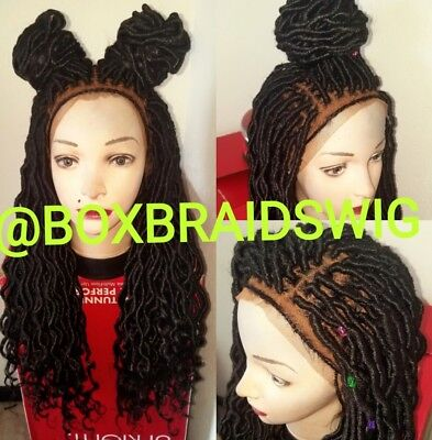 Goddess Faux Locs Frontal Wig With Baby Hair Color 1b(20inch)