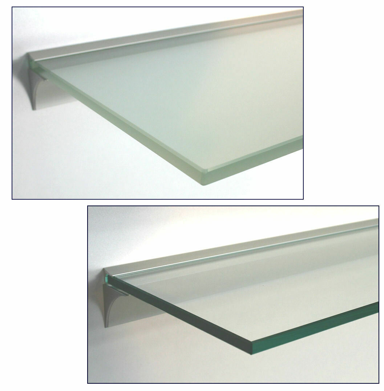 Wandregal Glas Klarglas Satiniert 13 Grossen 10mm Mit