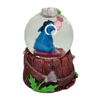 The Disney Store Mini Snow Globe EEYORE With butterfly On His Nose
