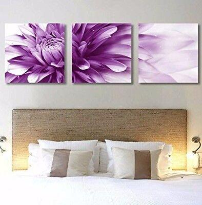 (Purple HD Giclee Art Print set of 3 Modern Home Wall Painting Decor Art 23