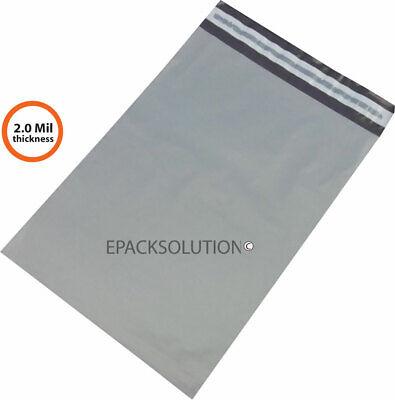 100 Gray Thin Poly Mailers 14.5x19 Self Sealing Shipping Envelopes Bag Eps 2 Mil