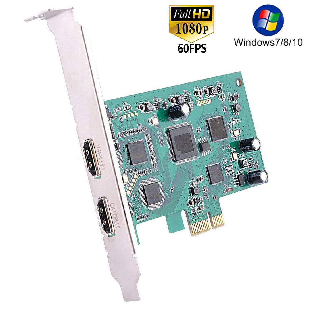PCIE 4K HDMI Game Capture Card 1080P Recorder Support OBS St