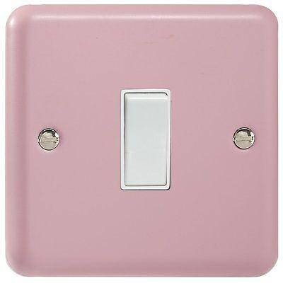 Rose Pink Light Switch Single 1 Gang Rocker - 1 or 2 Way - Varilight Lily Range (Pink Ranger Rock)