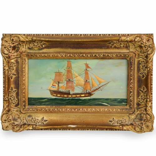VINTAGE MARITIME PAINTING BY WOLLNER-BEUK (1890-1956); SIGNED; Sailboat Nautical