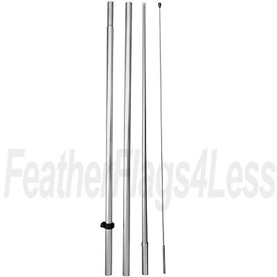 Windless Pole No Spike For Swooper Feather 2.5 3 Windless Flag Hq