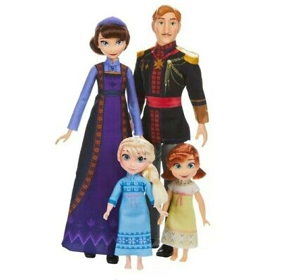 Disney Frozen 2 Movie Arendelle Royal Family Dolls Set Ana Elsa Kids New Gift