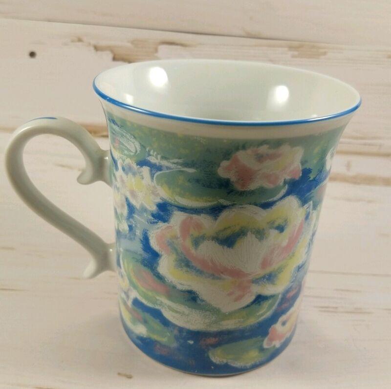 Monet 5044 Oxford England Porcelain Tea Cup Mug Japan Past Times Water lillies