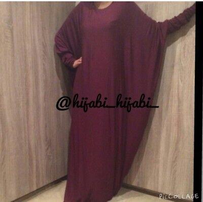 Wine batwing abaya Maxi Dress Farasha Muslimah (different lengths available) segunda mano  Embacar hacia Spain