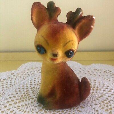 Vintage Kitsch Japan Felt Deer Moneybank