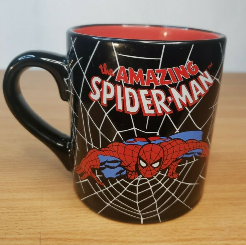 The Amazing Spider-man Coffee Mug 2010 MarvelEntertainment Size 21/2 cups Black