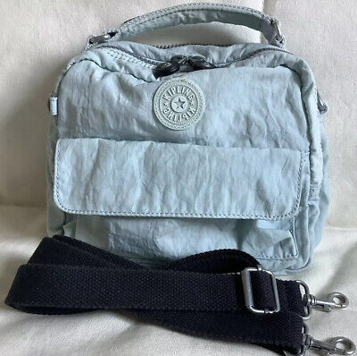 Kipling Candy Crossbody Bag Convertible To Backpack. Pale Blue. No Monkey