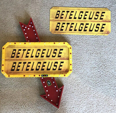 Beetlejuice Marquee Light Up Sign CUSTOM GRAPHIC POSTER ONLY* SPIRIT HALLOWEEN