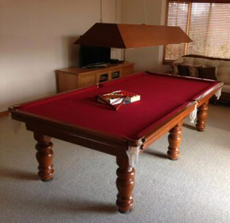 """MASTER BILLIARDS - 9'x4.6"""" York Model Billiard Table with Light Castle Hill The Hills District Preview"""