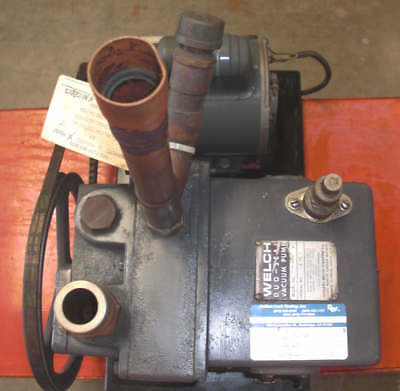 Welch Duo-seal Vacuum Pump 1376 With 12 Hp Ge Motor 1725 Rpm