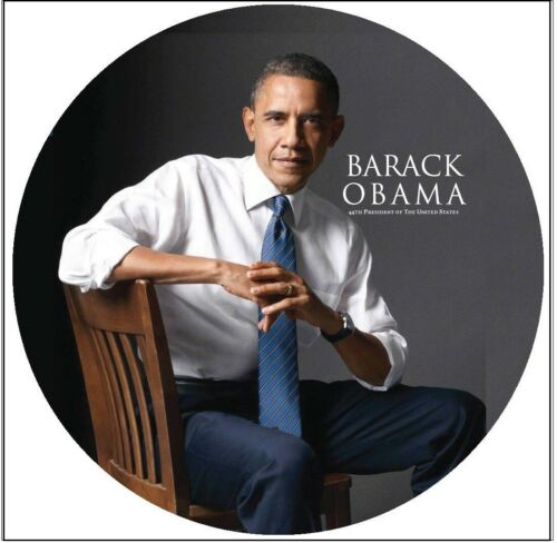 "Barack Obama 44th President 3"" Button /in See thru Gift Box"