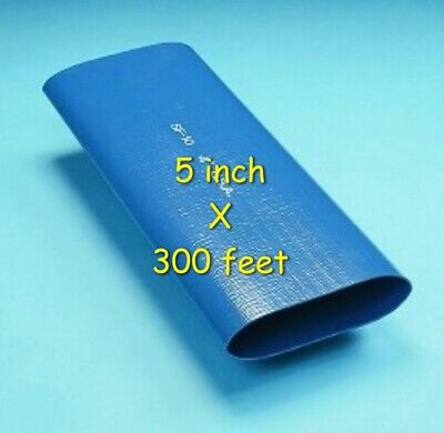 300 Ft. Roll Of 5 Inch Blue Pvc Lay Flat Water Discharge Hose Sf-10