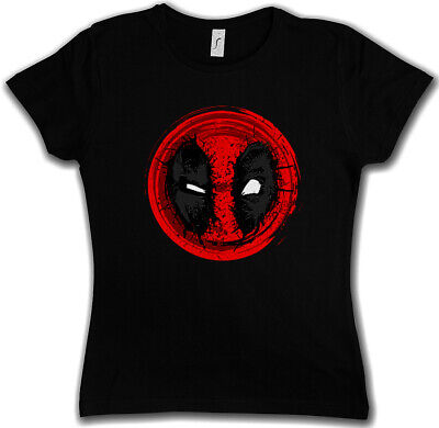 MUTANT MASK II DAMEN T-SHIRT Skull Logo Symbol Sign Superheld Deadpool Comic