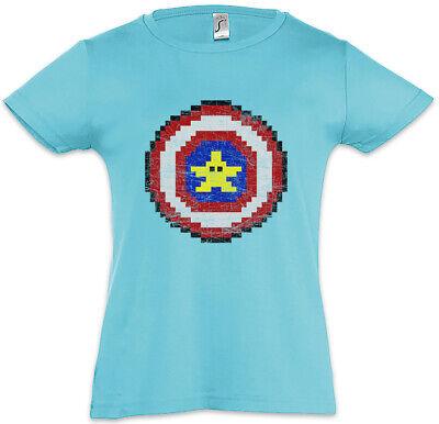 Captain Pixel Kinder Mädchen T-Shirt Banana Gamer Games America Fun Banane ()
