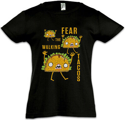 Fear The Walking Tacos Kinder Mädchen T-Shirt Fun Dead Taco Love Zombie Zombies ()